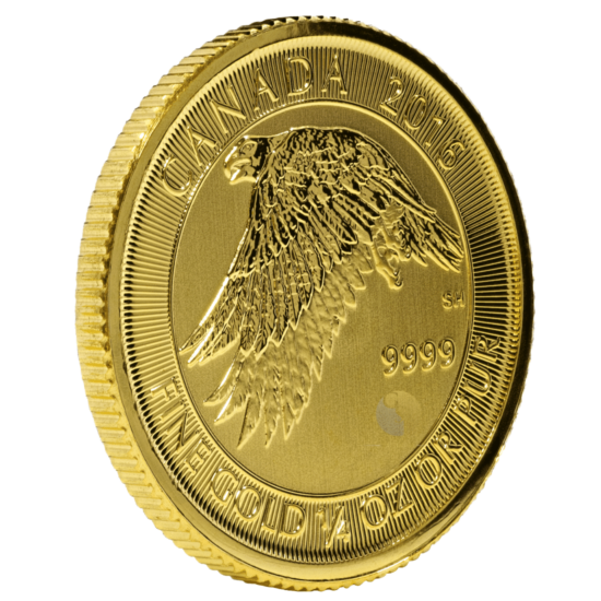 Gold Canadian Gyrfalcon Coin - 1/4 Ounce