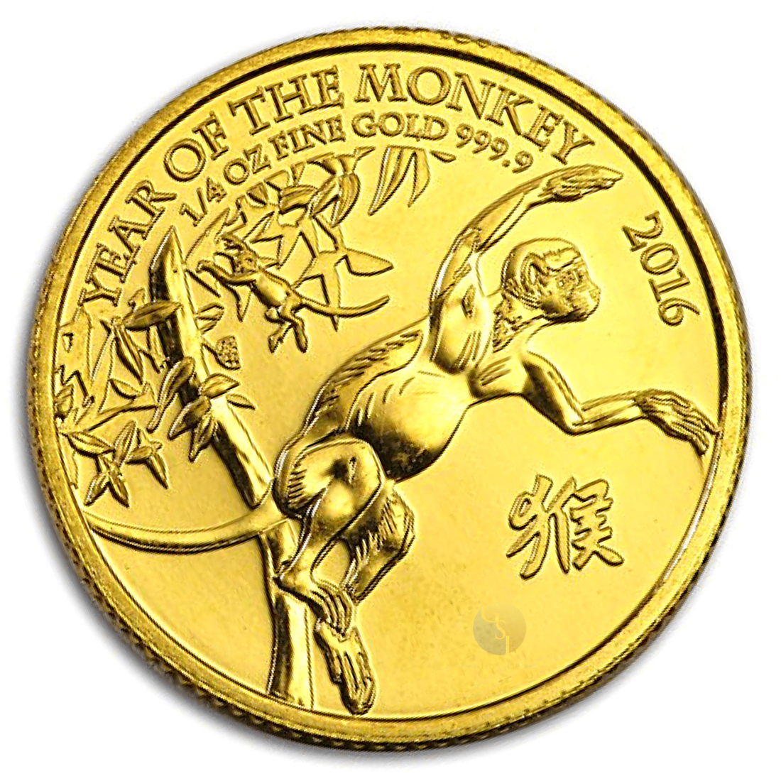 Gold Great Britain Year of The Monkey 1/4 Ounce Coin