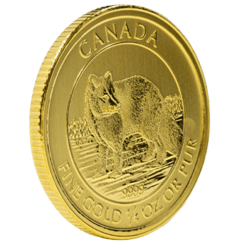 Gold Canadian Arctic Fox 1/4 Ounce Coin