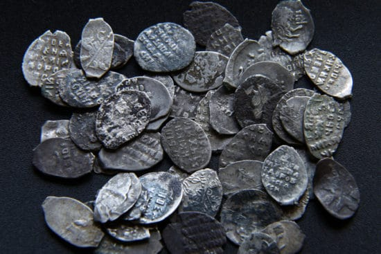 Medieval silver coins of Russian Empire